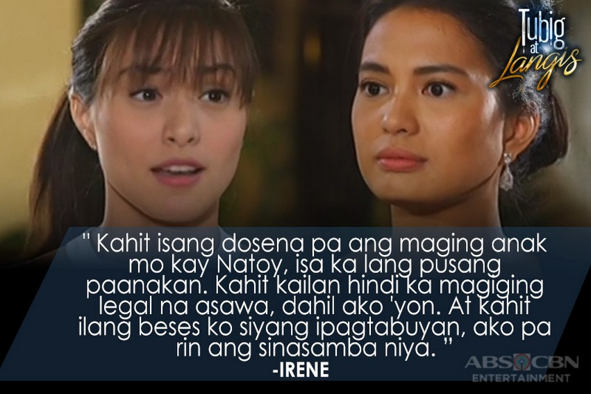 Cristine's fierce Lines in Tubig At Langis that proved Irene won't back down