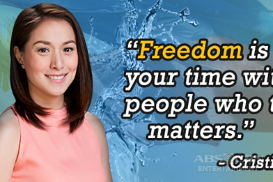 What is 'freedom'  according to Tubig At Langis stars